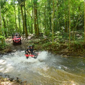 ATV with waterfall